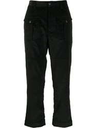 Gabriele Pasini Front Pocket Corduroy Trousers Black