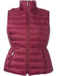 Burberry Brit Padded Zip Gilet Pink And Purple