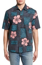 Kahala Tiki Room Standard Fit Camp Shirt Black