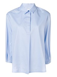 Paul Smith Ps 3 4 Sleeves Shirt Blue