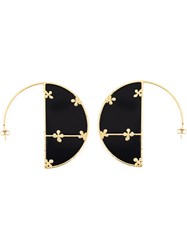 Aurelie Bidermann 'Bianca' Reversible Onyx Hoop Earrings Black