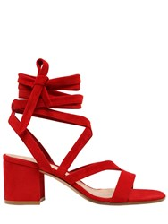 Gianvito Rossi 60Mm Lace Up Suede Sandals