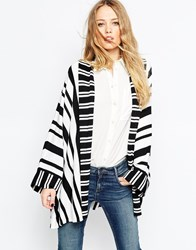 Asos Stripe Swing Cardigan Multi