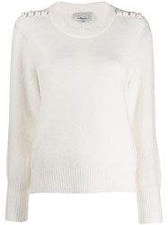 3.1 Phillip Lim Pearl Embellished Sweater White