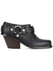 Wanda Nylon Ring Detail Ankle Boots Women Leather Metal 39 Black