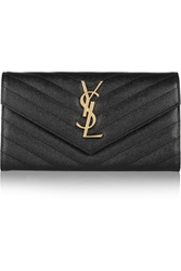 Saint Laurent Monogramme Quilted Textured Leather Wallet