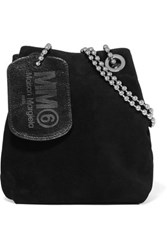 Maison Martin Margiela Mm6 Suede Shoulder Bag Black