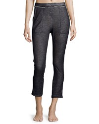 Skin Duo Fold Cropped Pants Steel Blue