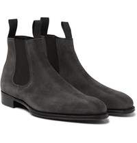 Kingsman George Cleverley James Suede Chelsea Boots Gray