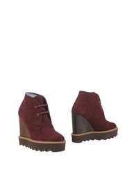 Stella Mccartney Footwear Ankle Boots Women Maroon