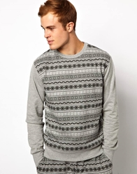 Chelsea Peers Aztec Tribal Sweatshirt Grey