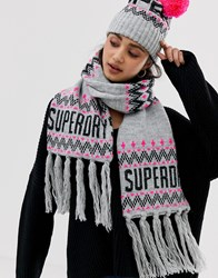 Superdry Chevron Logo Scarf Multi