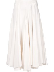 Co Asymmetric Full Skirt White