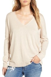 Leith V Neck Sweater Brown