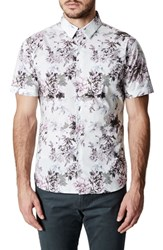 7 Diamonds Aura Floral Sport Shirt Rose