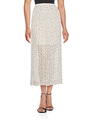 Chloe Pleated Printed Maxi Skirt Strawberry White
