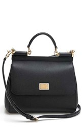 Dolce And Gabbana 'Small Miss Sicily' Satchel Black Nero