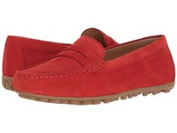 Ecco Devin Moc Penny Loafer Coral Blush Calf Nubuck Women's Slip On Shoes Red