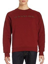 G Star Tarev Quilted Long Sleeves Pullover Dry Red