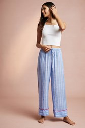 Floreat Trista Striped Sleep Pants Blue Motif