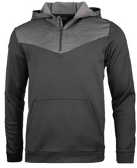 Ideology Id Men's Performance Colorblocked Half Zip Hoodie Created For Macy's Deep Black