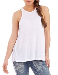 Free People Long Beach Ribbed Tank Top White