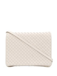 Bottega Veneta Intrecciato Crossbody Bag Neutrals