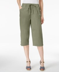 Karen Scott Drawstring Cropped Pants Only At Macy's Olive Vine
