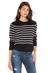 525 America Stripe Crew Neck Sweater Black