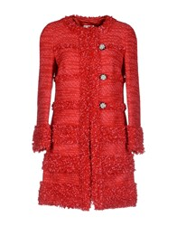 Edward Achour Coats And Jackets Coats Women Red