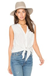 Joie Edalette Button Down Tank White
