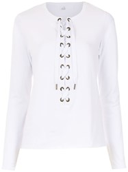 Spacenk Nk Lace Up Top White