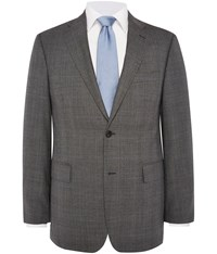 Austin Reed Regular Fit Prince Of Wales Check Jacket Charcoal