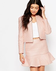 Lashes Of London Blush Heart Quilt Jacket Pink