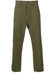 Closed Tapered Trousers Green
