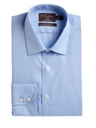 Black Brown Slim Fit Cotton Dress Shirt Blue Vista