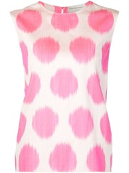 Maison Rabih Kayrouz Polka Dot Print Sleeveless Top