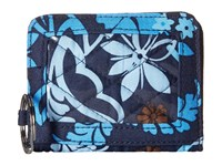 Vera Bradley Campus Double Id Java Floral Credit Card Wallet Black
