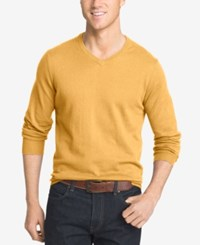 Izod Men's V Neck Sweater Golden Cream