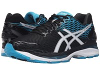 Asics Gel Nimbus 18 Black White Island Blue Men's Running Shoes