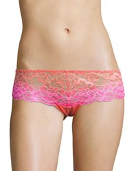 Free People Scalloped Lace Thong Pink