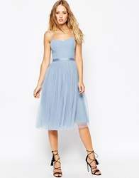 Needle And Thread Giselle Ballet Midi Dress With Tulle Skirt Powderblue