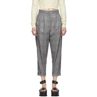 Maison Martin Margiela Mm6 Black Houndstooth Cuffed Trousers