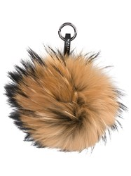 N.Peal Fur Keyring Nude And Neutrals