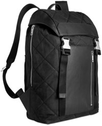 Jack Spade Men's Quilted Waxwear Backpack Black
