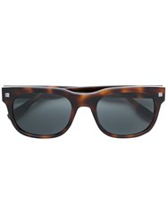 Ermenegildo Zegna Square Tortoise Shell Sunglasses Brown