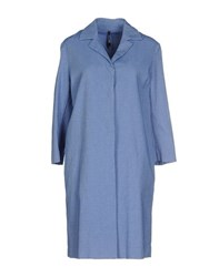 Manila Grace Coats And Jackets Full Length Jackets Women Sky Blue