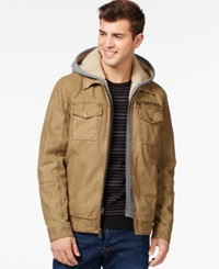 Guess Trucker Jacket With Attached Hood