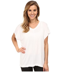 Zobha Irene Mesh Back Tee White Women's T Shirt
