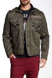 Affliction Invisible Line Jacket Green